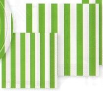 Ubrousky zelený proužek 16ks