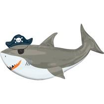 Žralok pirát balónek 104 cm x 58 cm