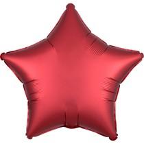 Balónek hvězda foliová satén červená SANGRIA
