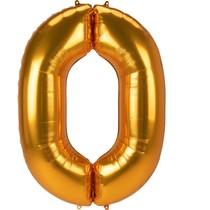 Obří balónek číslo 0 zlatý 134 cm x 94 cm