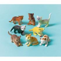 Kočky plastové hračky 12 ks
