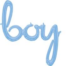 boy balónek světle modrý 81cm x 73 cm