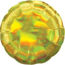 Balónek kruh holografický žlutý