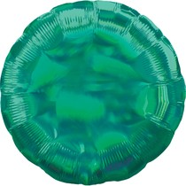 Balónek zelený holografický