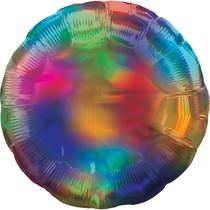 Balónek kruh holografický duhový
