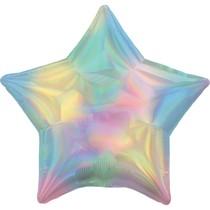 Balónek hvězda holografická duhová světlá