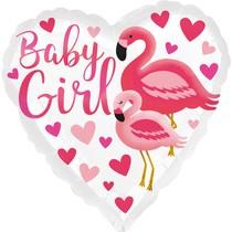 Baby Girl balónek srdíčko 42 cm