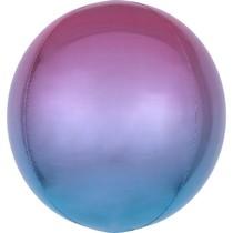 Foliový balónek koule fialovo-modrá 38 cm