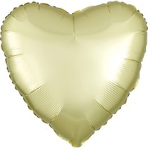 Balónek srdce foliové satén světle zlaté