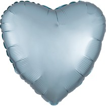 Balónek srdce foliové satén světle modré