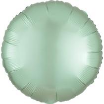 Balónek kruh foliová satén mint