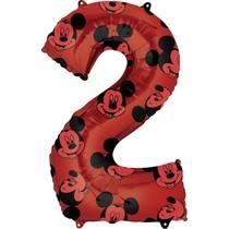 Mickey Mouse balónek číslo 2 červený 66 cm