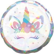Jednorožec balónek holografický 43 cm