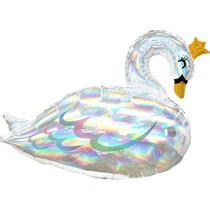 Labuť balónek iridescent 73 cm x 55 cm