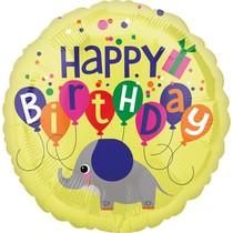 Balónek narozeniny slon 42 cm