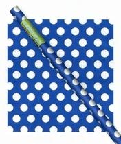 Balící papír modro - bílé tečky