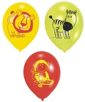 Balónky safari mix barev 6ks