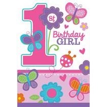 Pozvánky na 1. narozeniny holka 8 ks