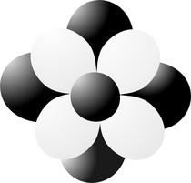 Balónková kytka černá