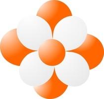 Balónky kytka oranžová