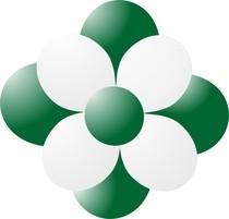 Balónky kytka tmavě zelená