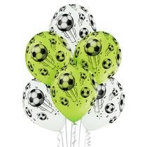 Fotbal balónky 6 ks 30 cm mix barev