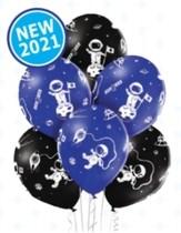 Kosmonaut balónky mix 6 ks 30 cm