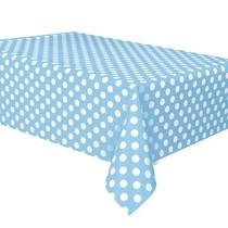 Ubrus světle modré - bílé tečky 137cm x 274cm