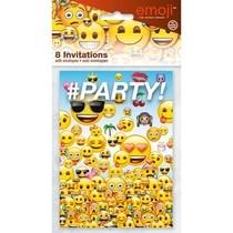 Emoji pozvánky na party 8ks