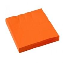 Ubrousky oranžové 20ks 3-vrstvé 33cm x 33cm