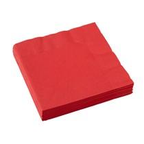 Ubrousky červené 20 ks 33 cm x 33 cm 2-vrstvé