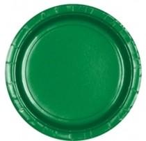Talíře papírové zelené 8ks 18cm