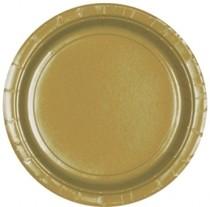 Talíře papírové Gold 8ks 18cm