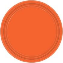 Talíře oranžové 8ks 23cm