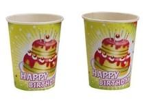 Kelímky šťastné narozeniny dort 8ks 0,25l