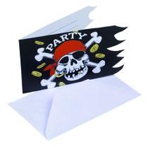 Pozvánka na narozeniny piráti 6ks