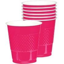 Kelímky růžové 10 ks 355 ml plastové