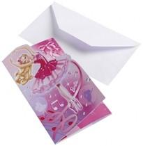 Barbie pozvánky na narozeniny 6ks