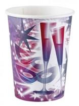 Kelímky skleničky a hvězda 8ks 0,25l