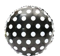 Fóliový balónek černo - bílé tečky 45cm