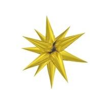 Hvězda zlatá 70 cm 3D foliový balón