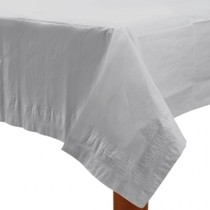 Ubrus bílý dva v jednom - papír + PVC 137cm x 274cm