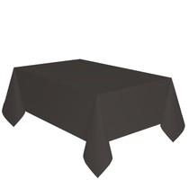Ubrus černý dva v jednom - papír + PVC 137 cm x 274 cm