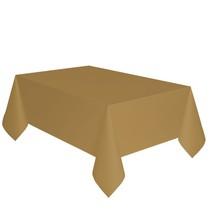 Ubrus zlatý dva v jednom - papír + PVC 137cm x 274cm
