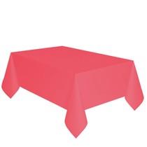 Ubrus červený dva v jednom - papír + PVC 137cm x 274cm