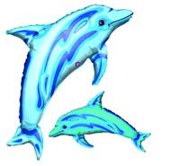 Foliový balonek delfín 78 x 99 cm