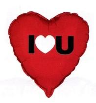 Balónek foliový srdíčko I HEART YOU 45cm