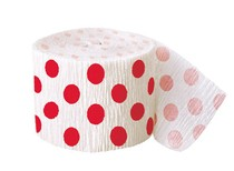 Krepový papír červeno - bílý 9,14m