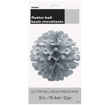 Papírová dekorace kulatá stříbrná 30,4cm