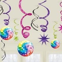 Závěsné dekorace disco 12ks 90cm